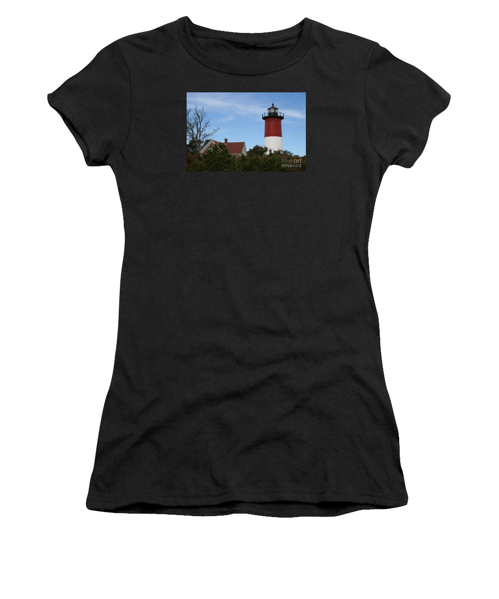 Lighthouse Women's T-Shirt featuring the photograph Nauset Beach Light by Christiane Schulze Art And Photography