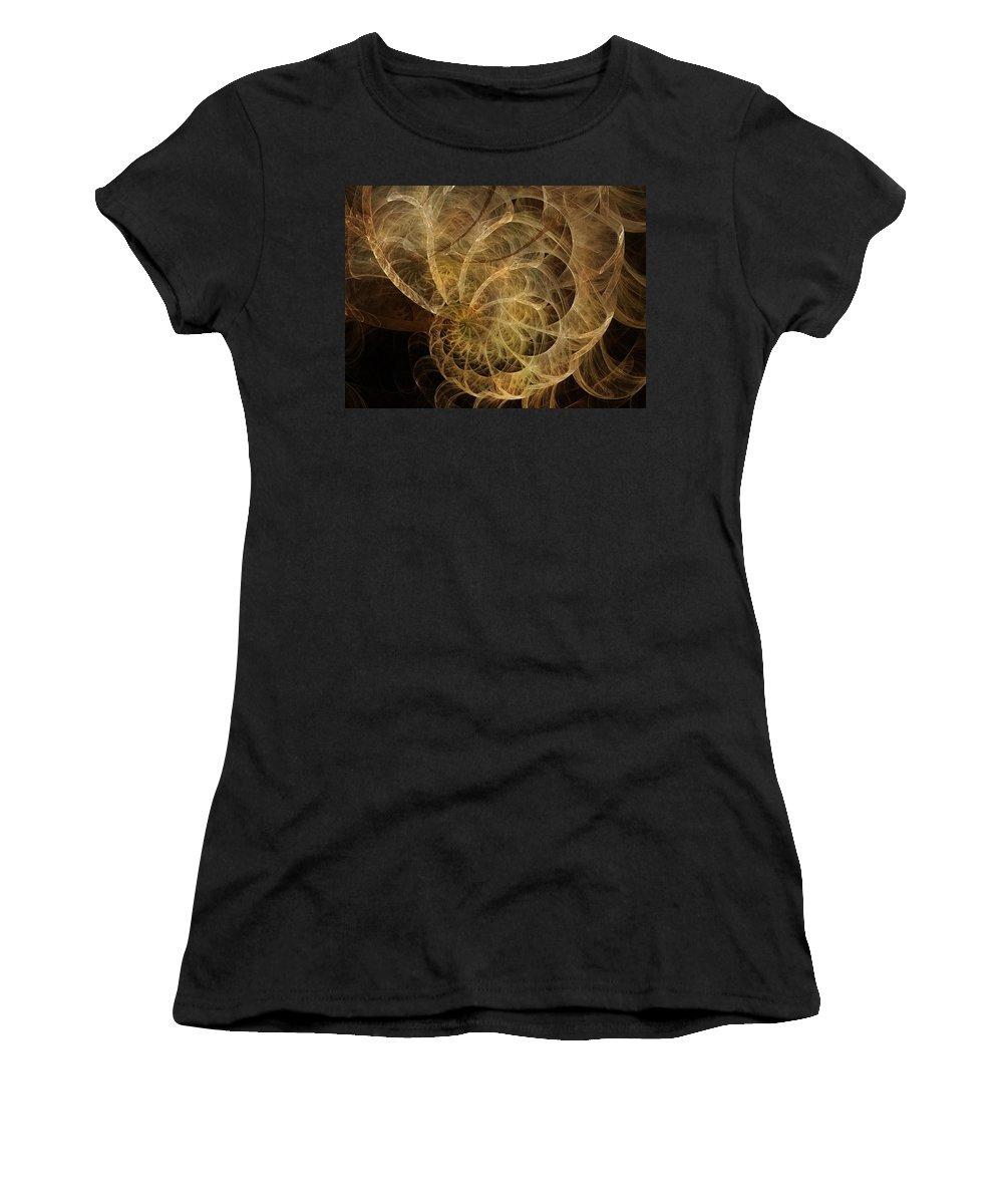 Nautilus Women's T-Shirt featuring the digital art Nautical Twilight by Betsy Knapp