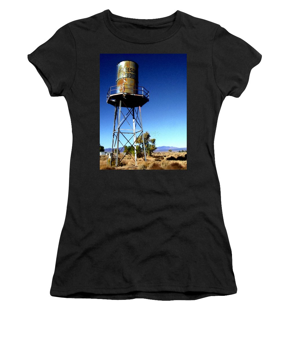 Glenn Mccarthy Women's T-Shirt (Athletic Fit) featuring the photograph Nelson Studio Color - Lucerne Valley by Glenn McCarthy Art and Photography