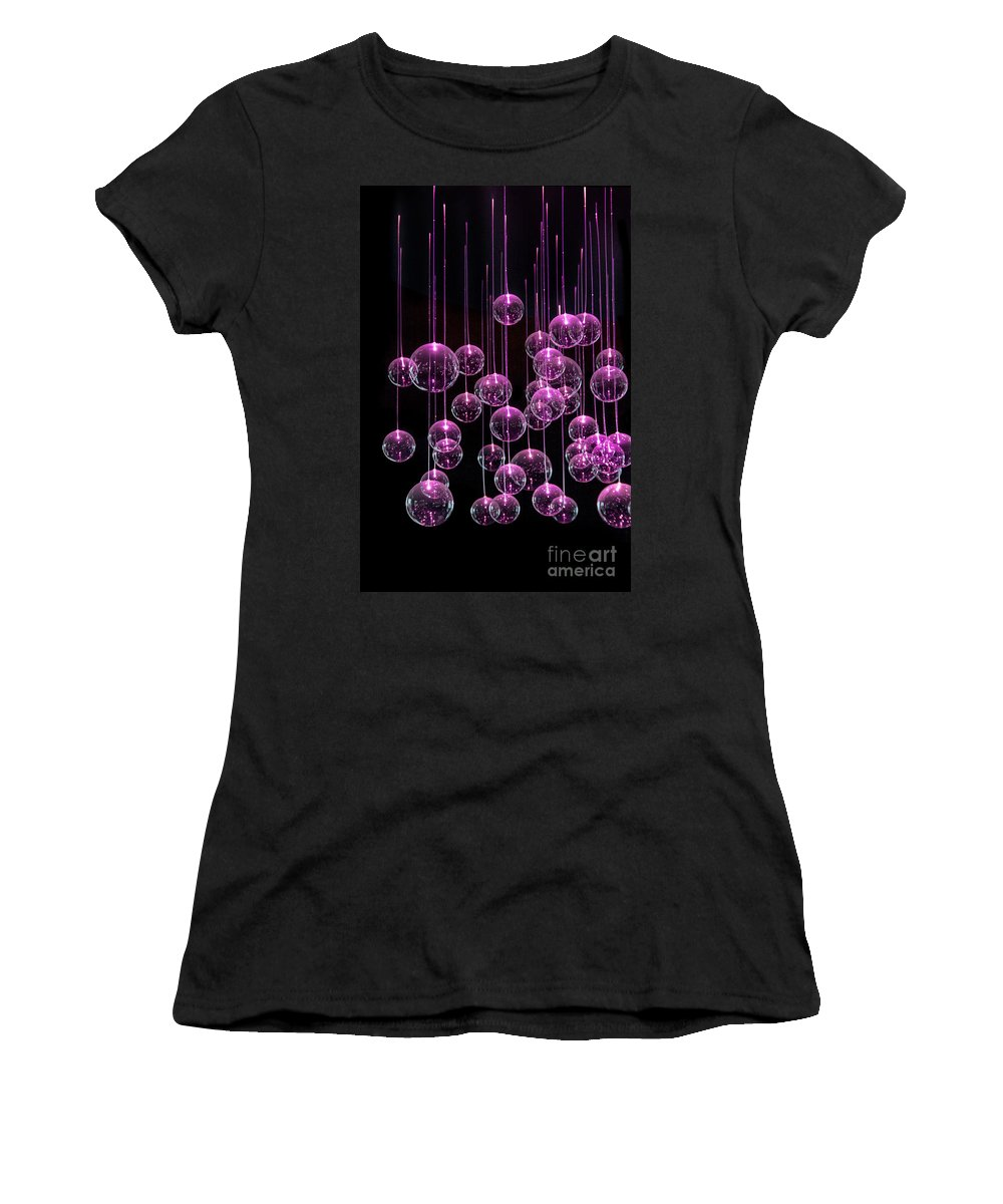 Lights Women's T-Shirt (Athletic Fit) featuring the photograph Neon Nights by Evelina Kremsdorf
