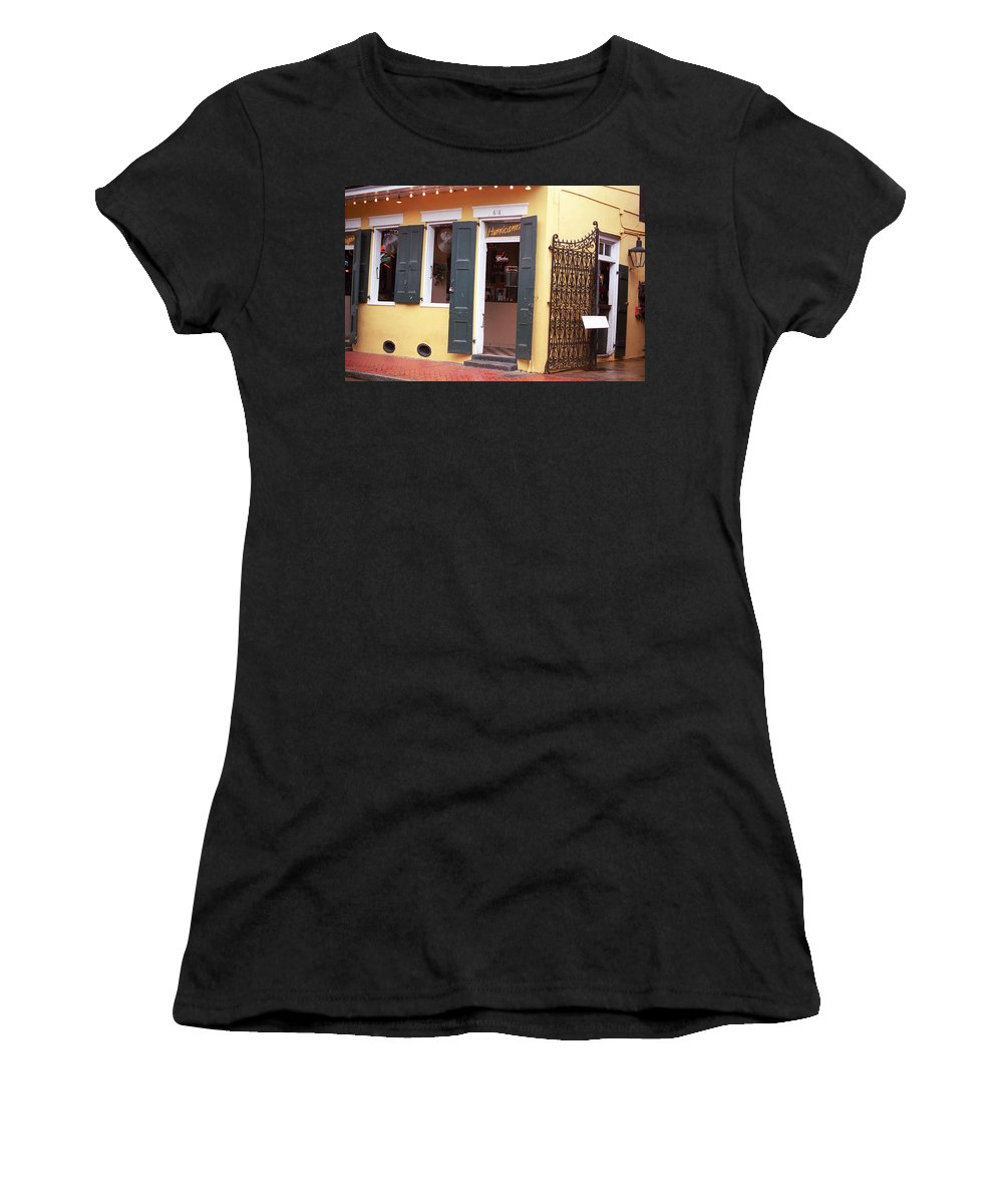 America Women's T-Shirt featuring the photograph New Orleans - Bourbon Street 2 by Frank Romeo