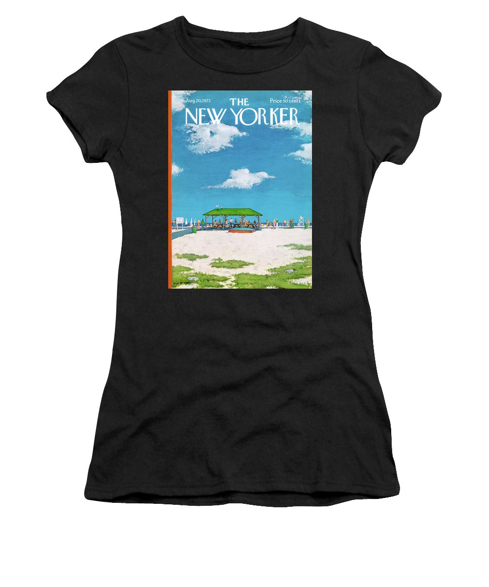 Summer Women's T-Shirt featuring the painting New Yorker August 20th, 1973 by Albert Hubbell