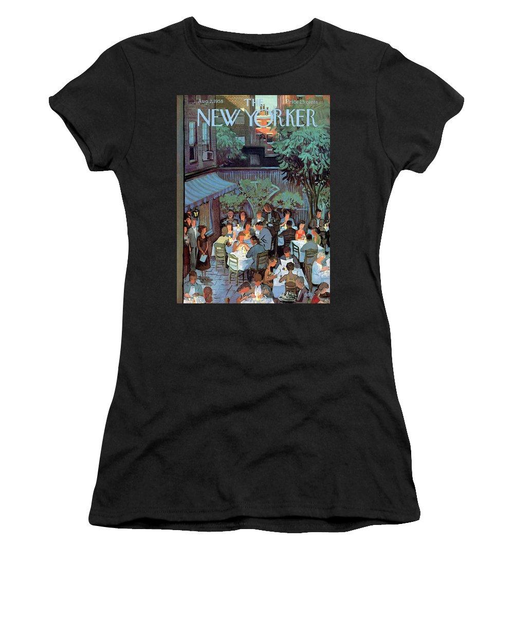 Arthur Getz Agt Women's T-Shirt featuring the painting New Yorker August 2nd, 1958 by Arthur Getz