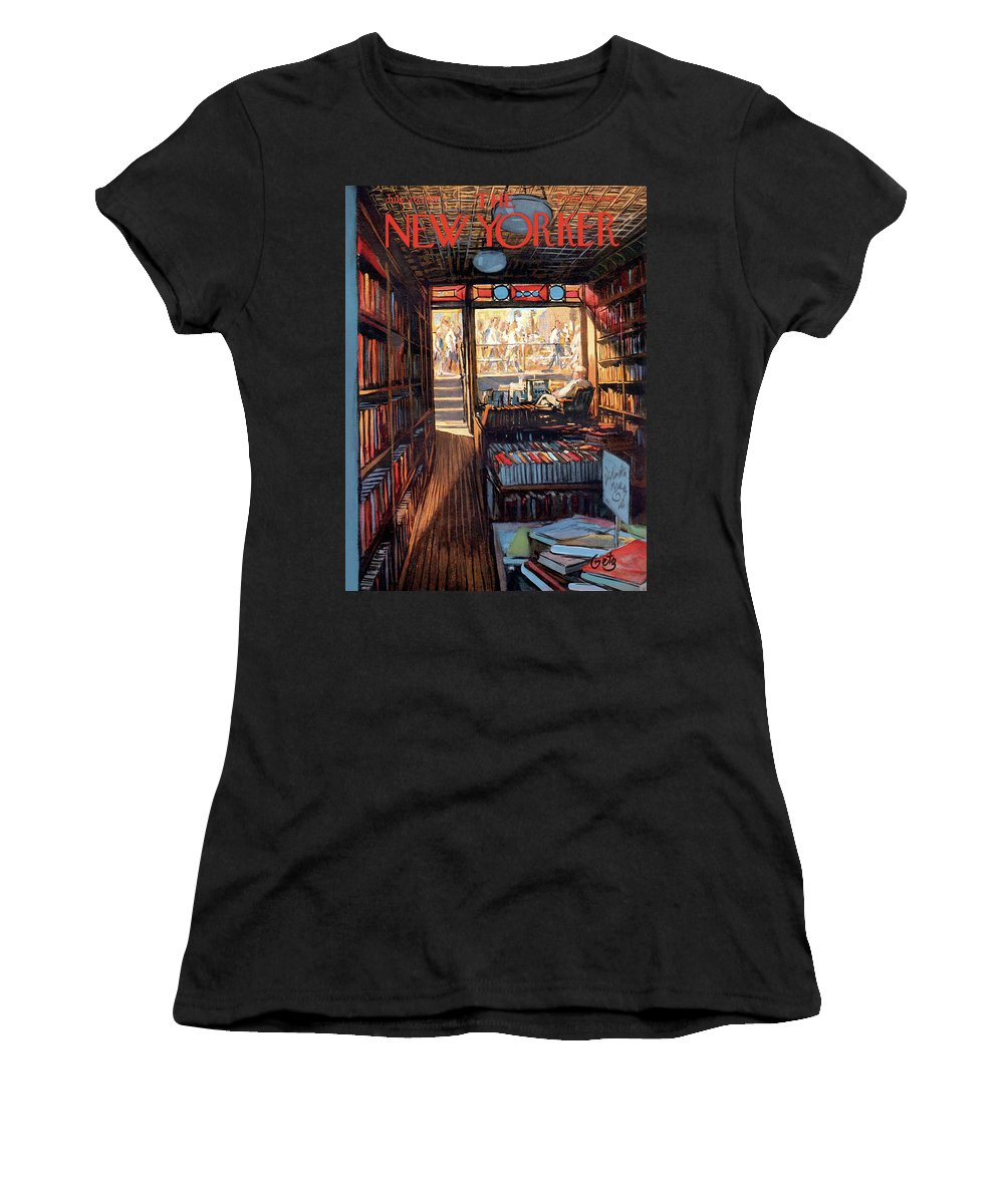 Arthur Getz Agt Women's T-Shirt featuring the painting New Yorker July 20th, 1957 by Arthur Getz