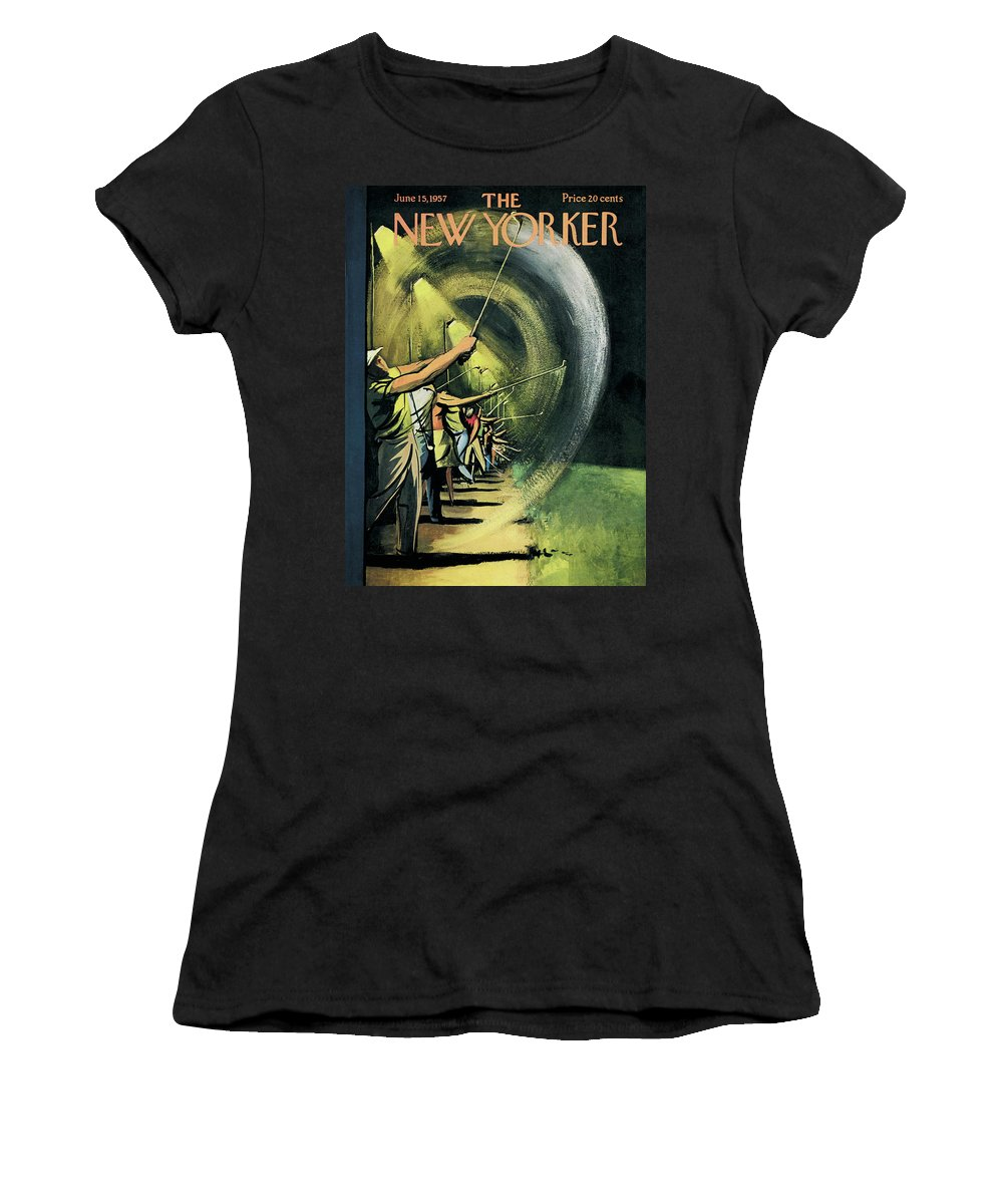 Golf Women's T-Shirt featuring the painting New Yorker June 15th, 1957 by Arthur Getz