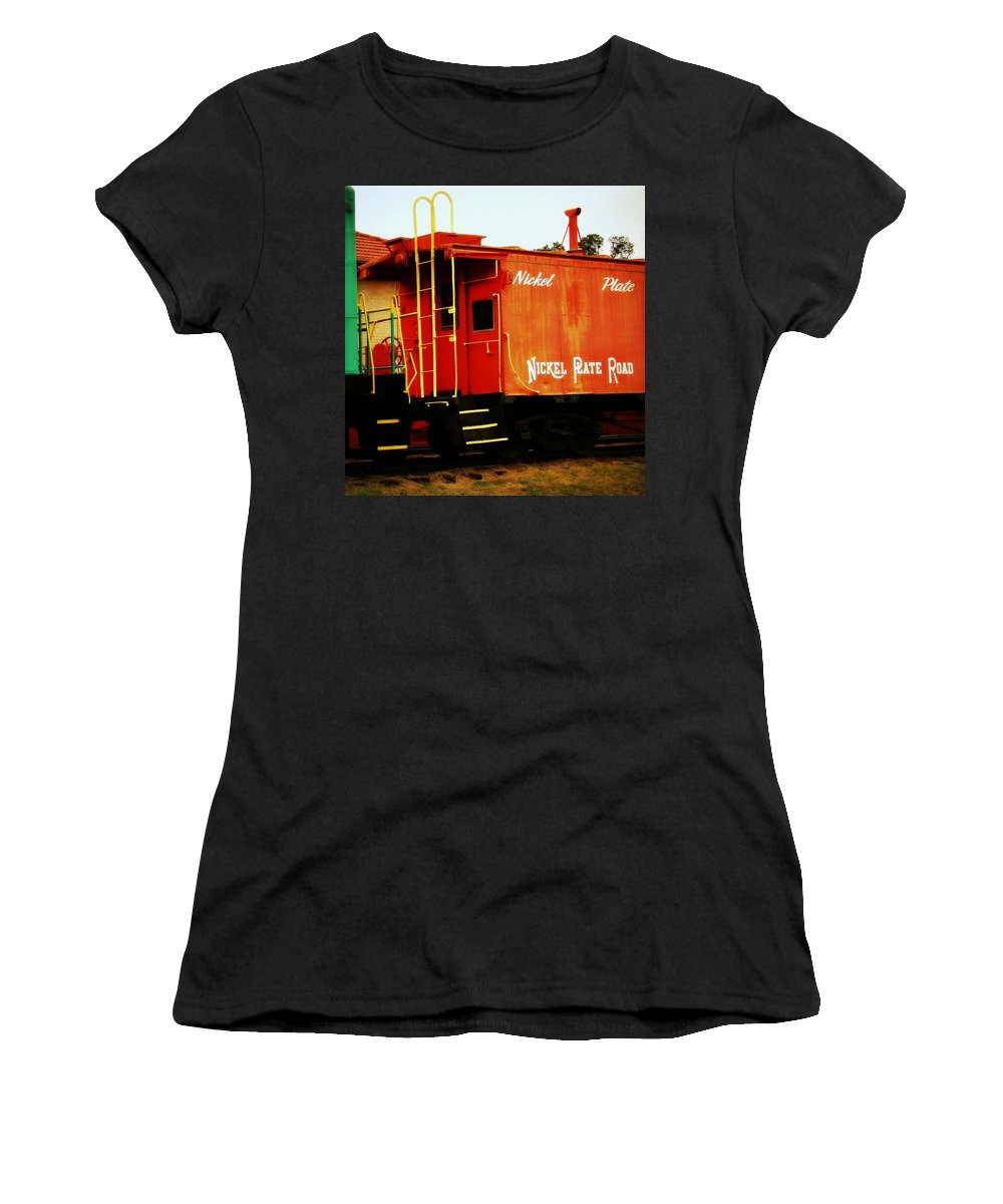 Fine Art Women's T-Shirt (Athletic Fit) featuring the photograph Nickel Plate by Rodney Lee Williams