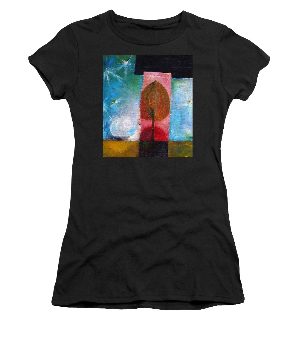 Colour Women's T-Shirt (Athletic Fit) featuring the painting Night Comes by Wojtek Kowalski