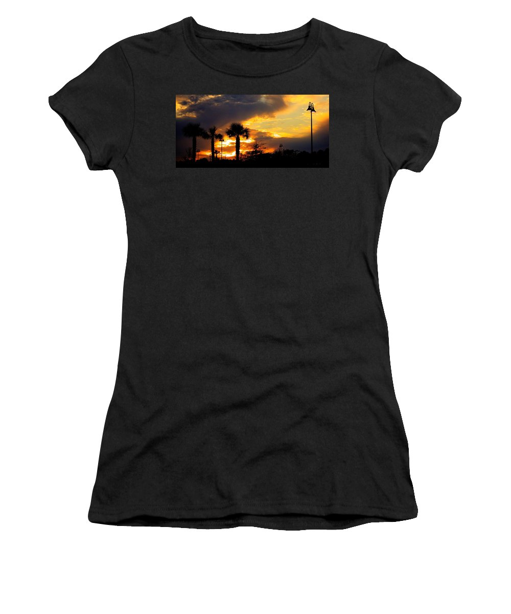 Fire Women's T-Shirt (Athletic Fit) featuring the photograph Night Fury by Tyson Kinnison