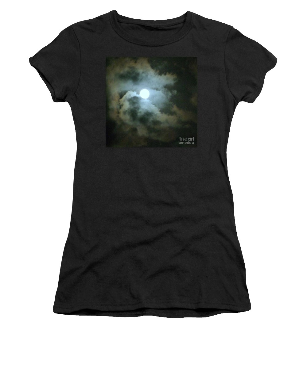 Moon Women's T-Shirt (Athletic Fit) featuring the photograph Night Of The Moon by Mary Deal