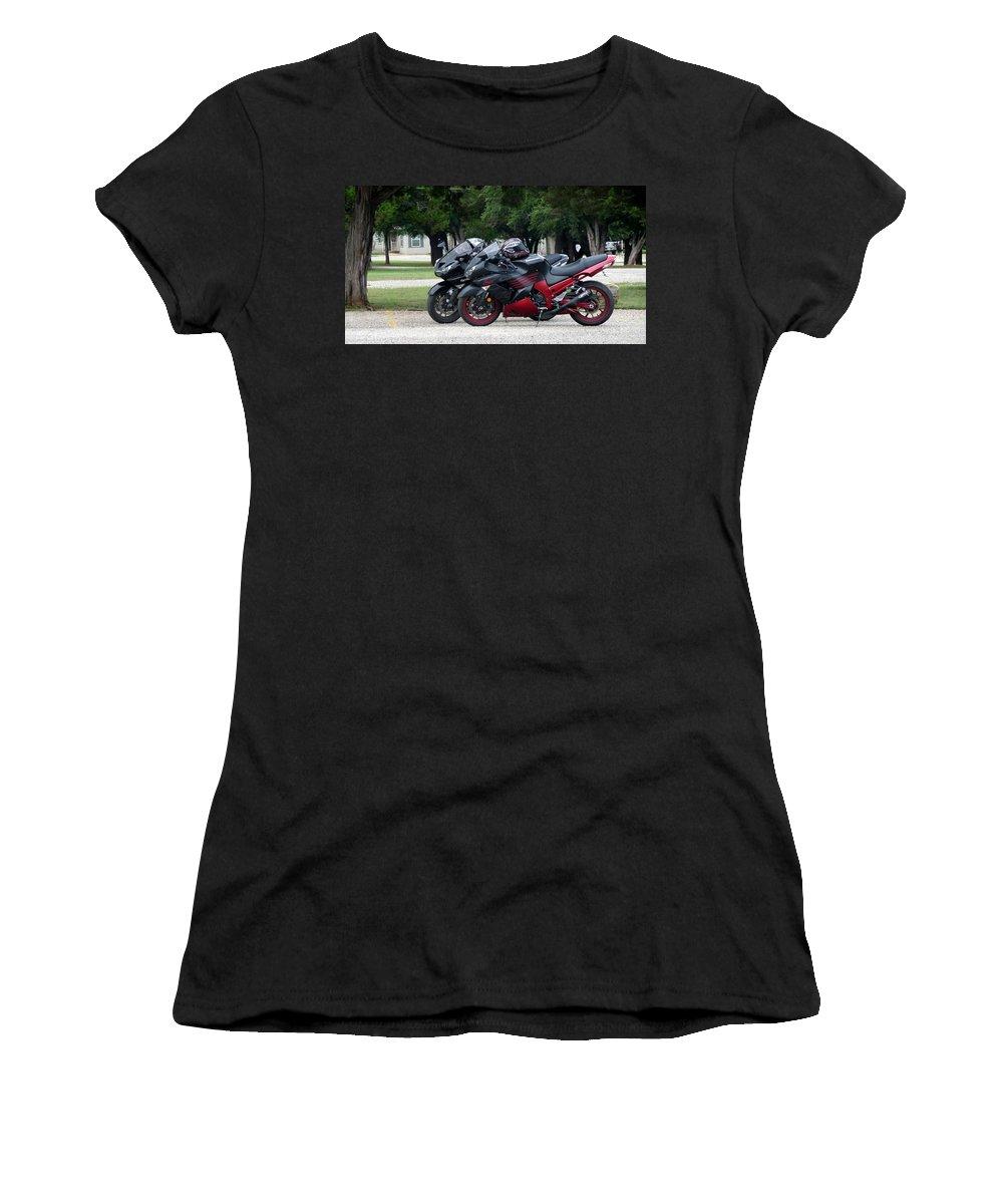 Ninja Women's T-Shirt featuring the photograph Ninja Zx14 by Jackie Austin