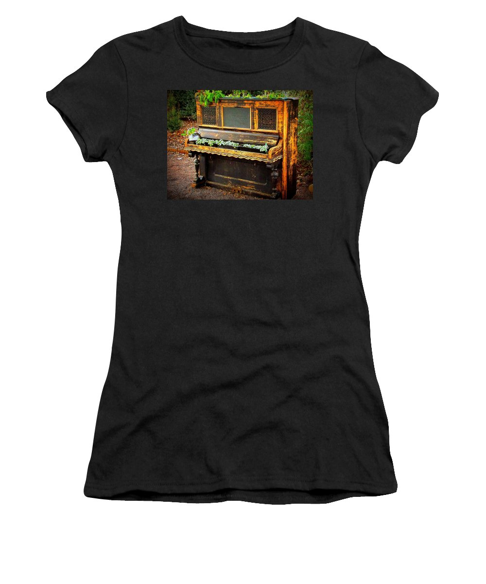 Fine Art Women's T-Shirt (Athletic Fit) featuring the photograph No More Music by Rodney Lee Williams