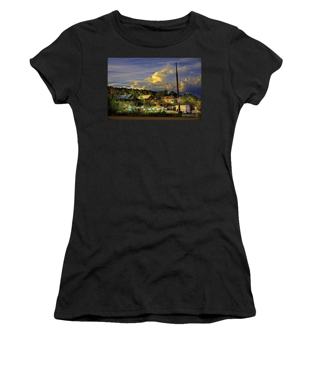 Mailboxes Women's T-Shirt (Athletic Fit) featuring the photograph No Parking Anytime I by Madeline Ellis
