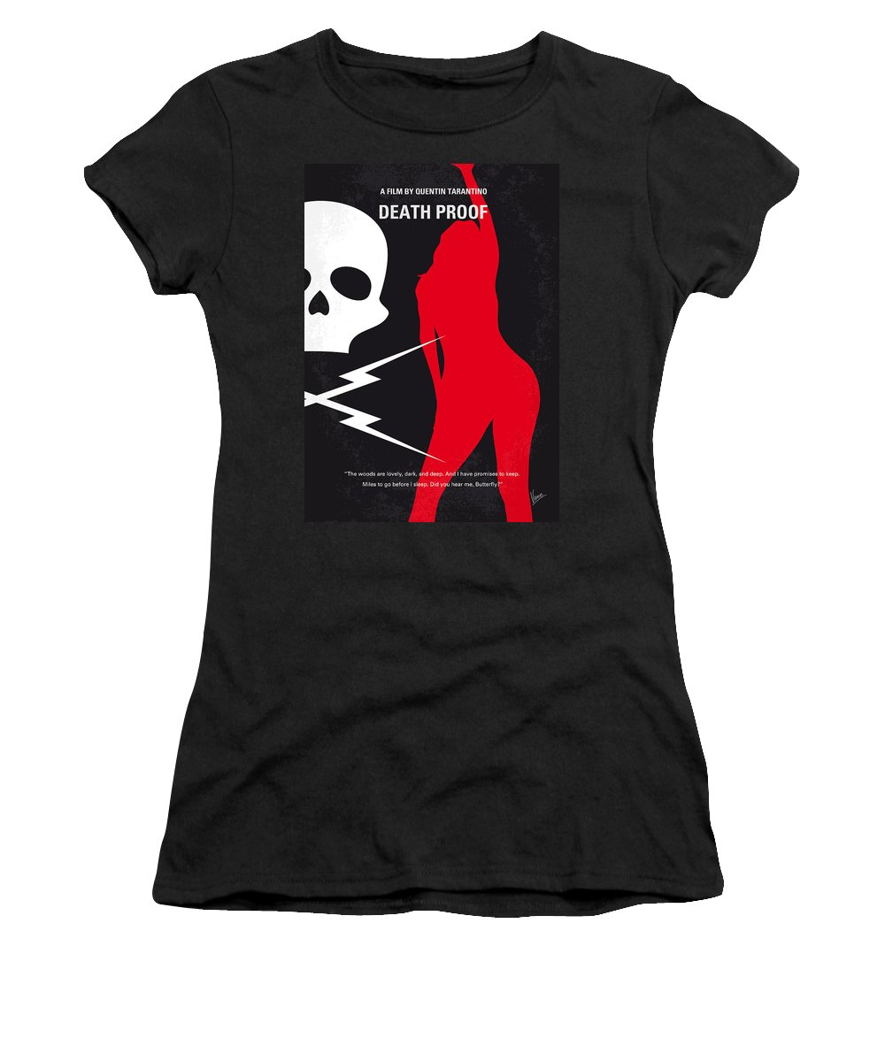 Death Women's T-Shirt featuring the digital art No018 My Death Proof Minimal Movie Poster by Chungkong Art