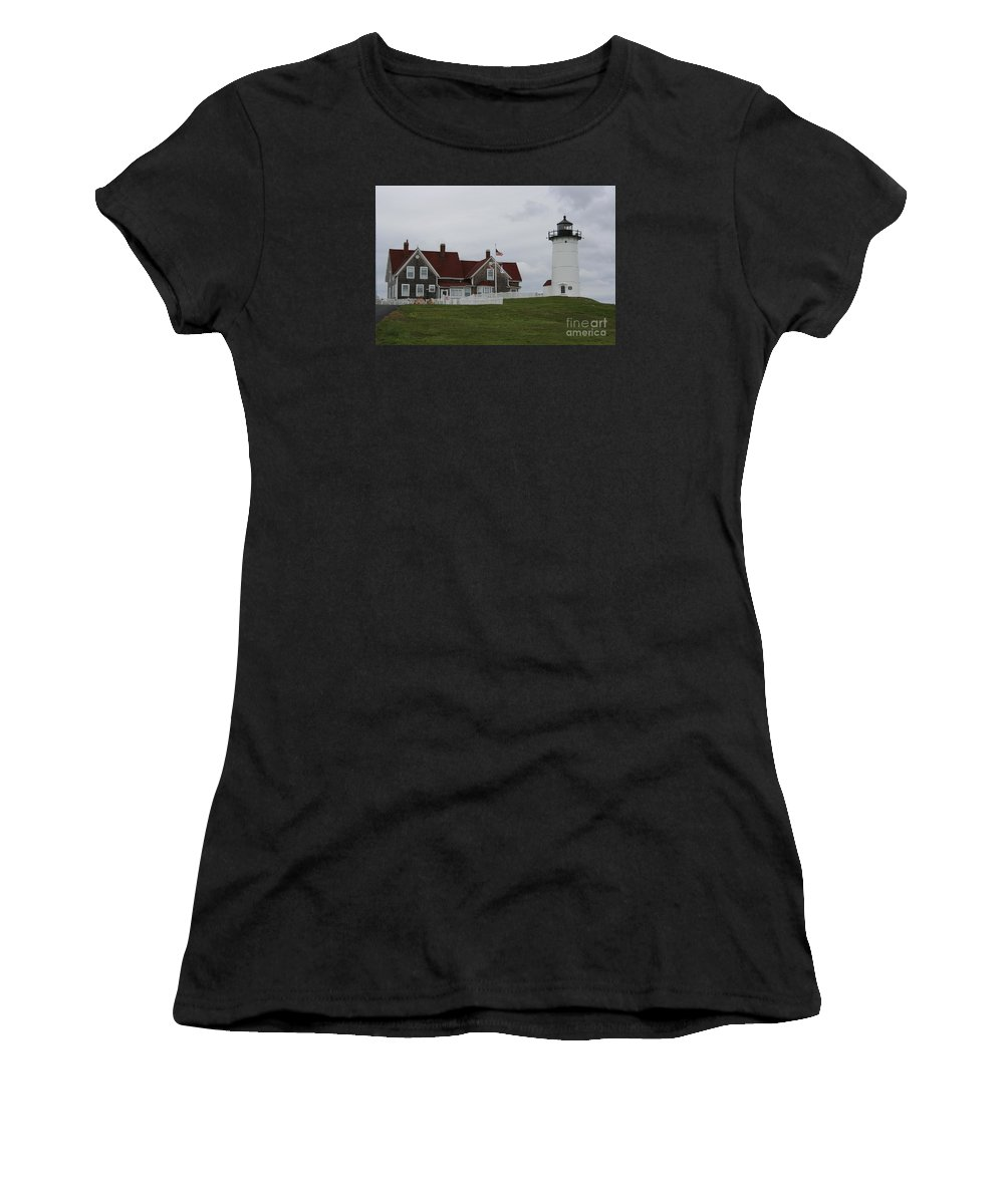Lighthouse Women's T-Shirt featuring the photograph Nobska Point Light by Christiane Schulze Art And Photography