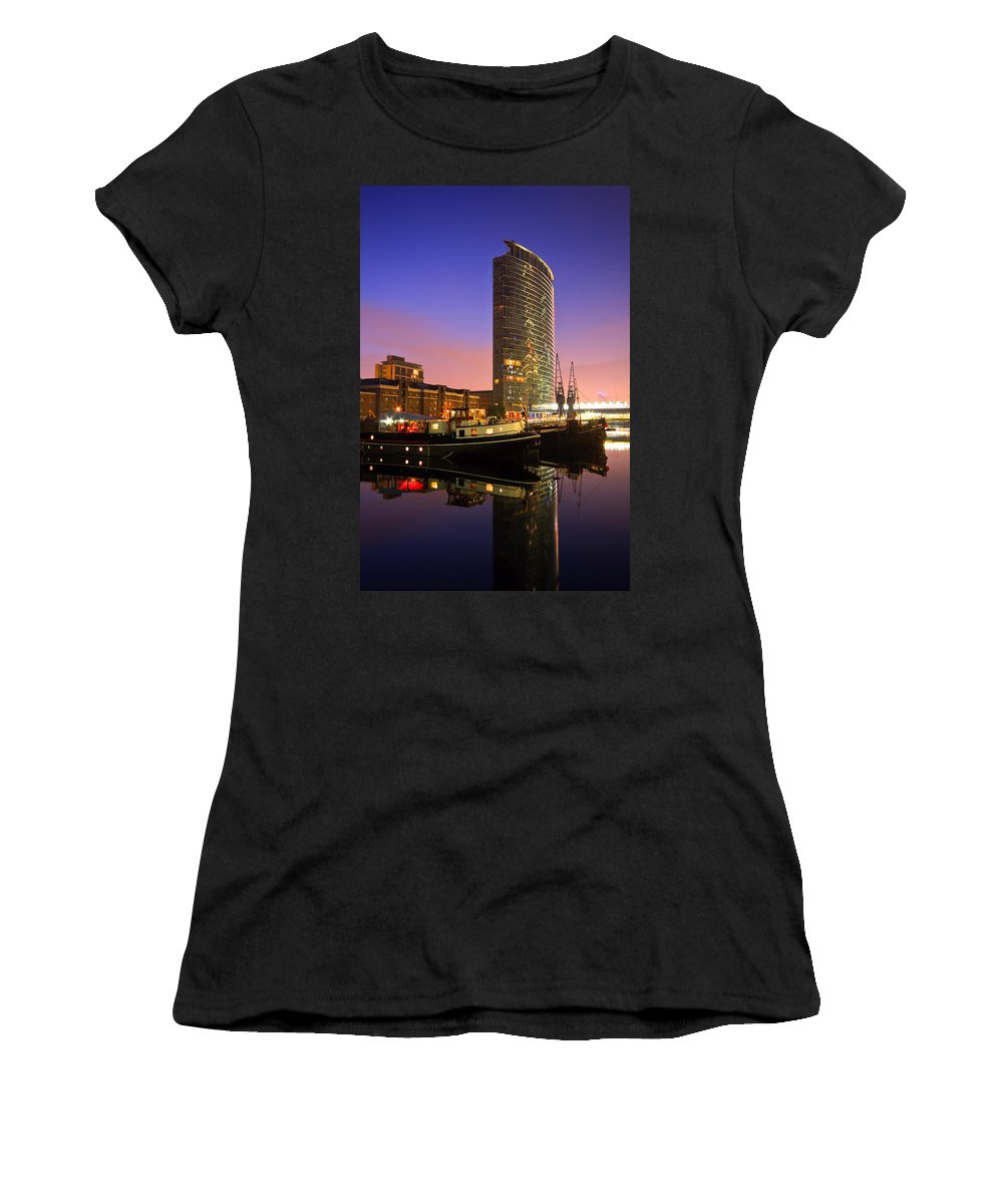 United Kingdom Women's T-Shirt (Athletic Fit) featuring the photograph North Dock In Canary Wharf. by Milan Gonda