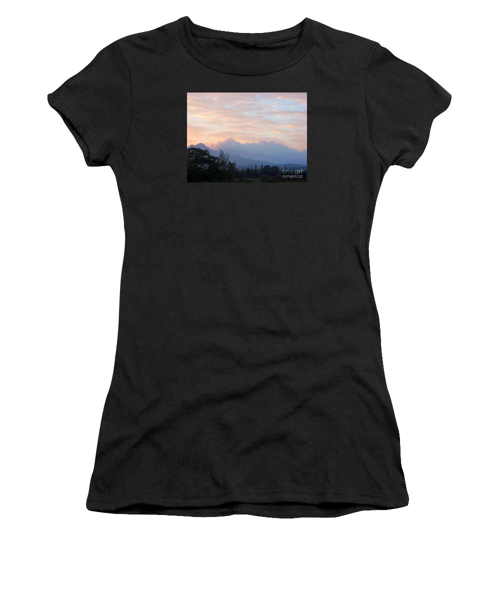 Kauai Women's T-Shirt (Athletic Fit) featuring the photograph North Shore Haze by Mary Deal