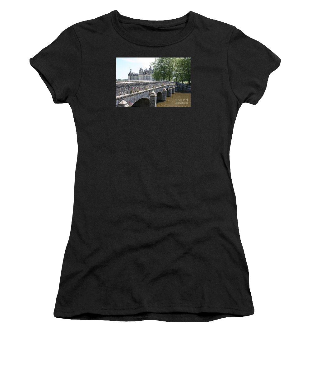 Palace Women's T-Shirt (Athletic Fit) featuring the photograph Northwest Facade Of The Chateau De Chambord by Christiane Schulze Art And Photography