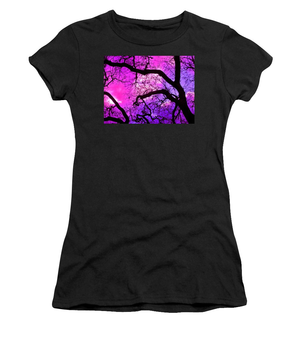 Trees Women's T-Shirt (Athletic Fit) featuring the photograph Oaks 17 by Pamela Cooper