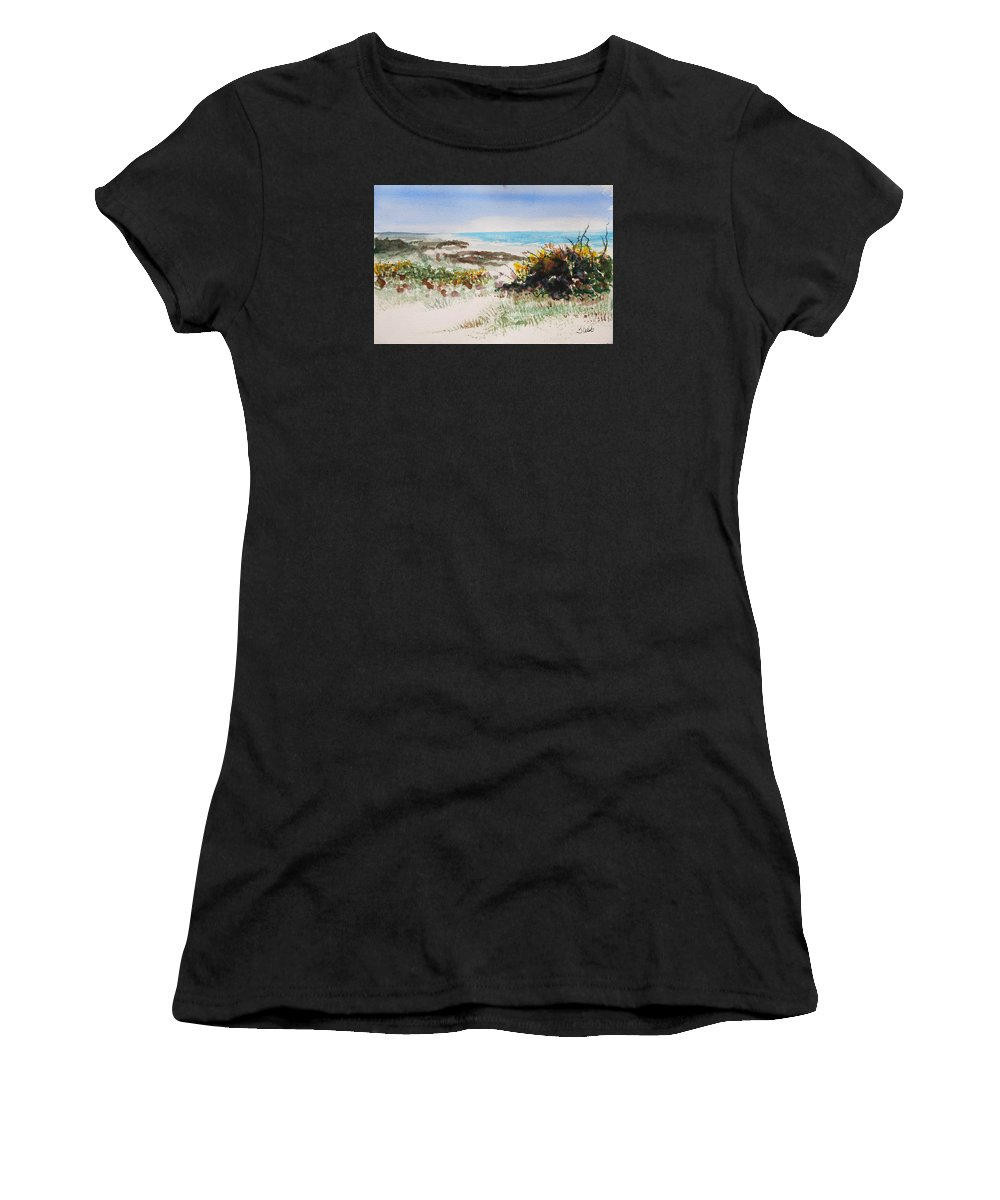 Ocean Women's T-Shirt (Athletic Fit) featuring the painting Ocean Front by Shelli West