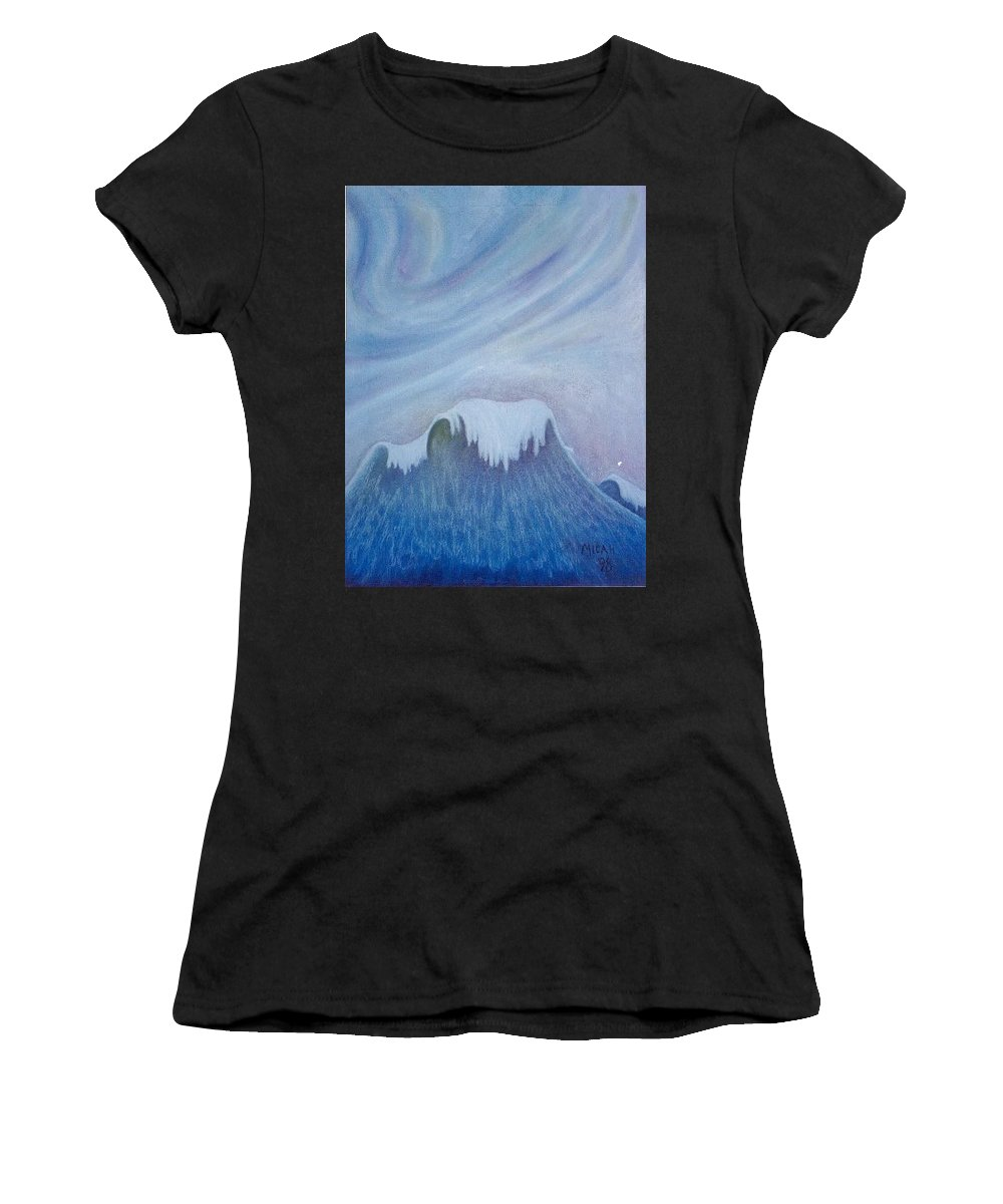 Ocean Women's T-Shirt featuring the painting Ocean Wave by Micah Guenther