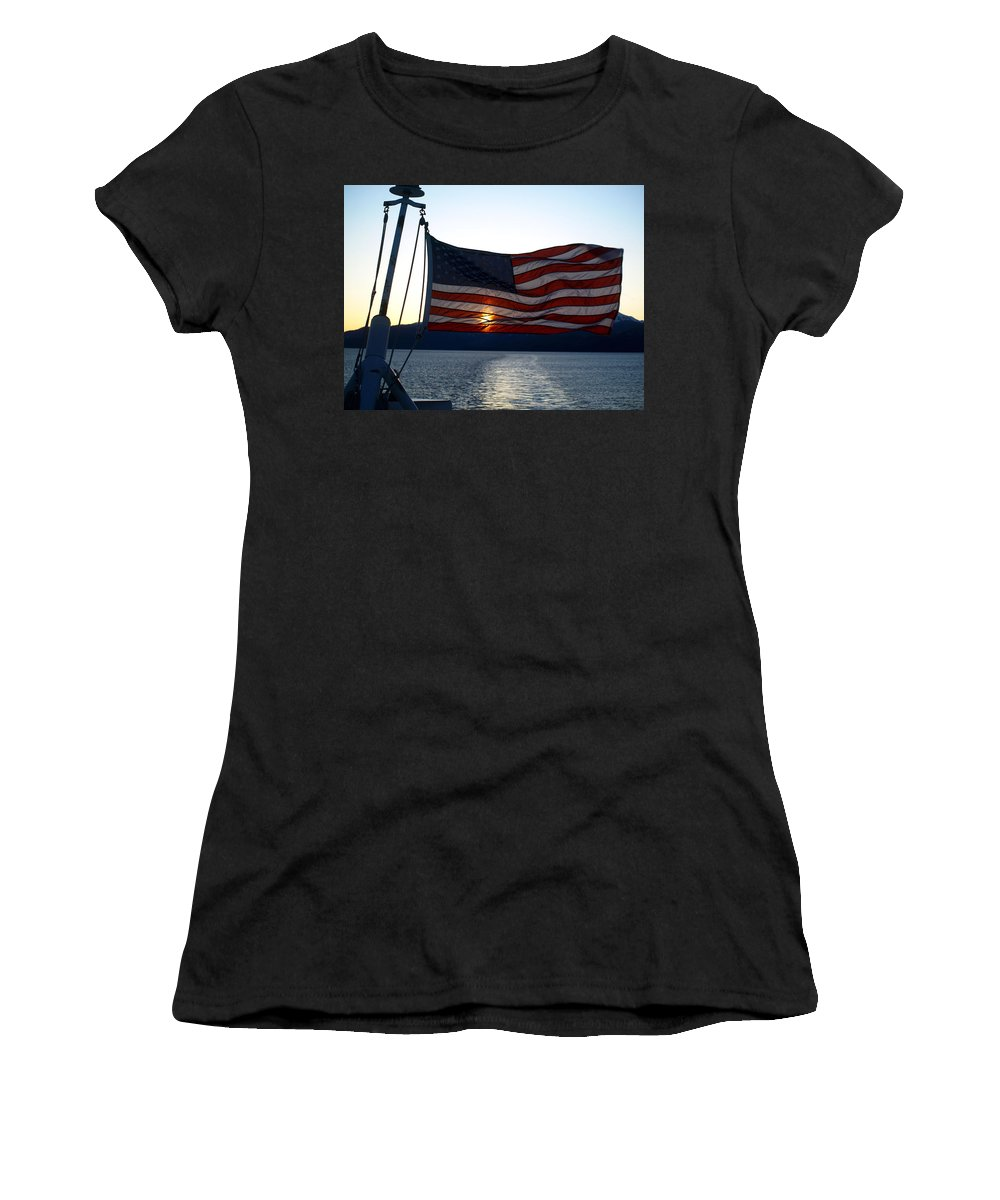Flag Women's T-Shirt featuring the photograph Oceanic Old Glory by Jessica Foster