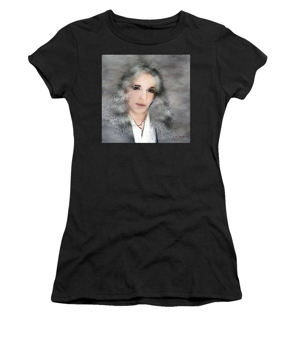 Woman Women's T-Shirt (Athletic Fit) featuring the painting Oh - It's You by RC DeWinter