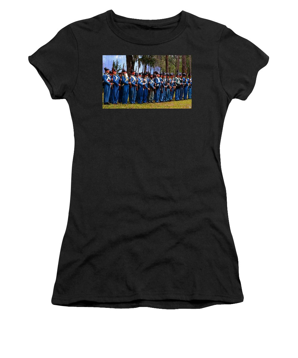 Art Women's T-Shirt featuring the painting Okeechobee Muster 1836 by David Lee Thompson