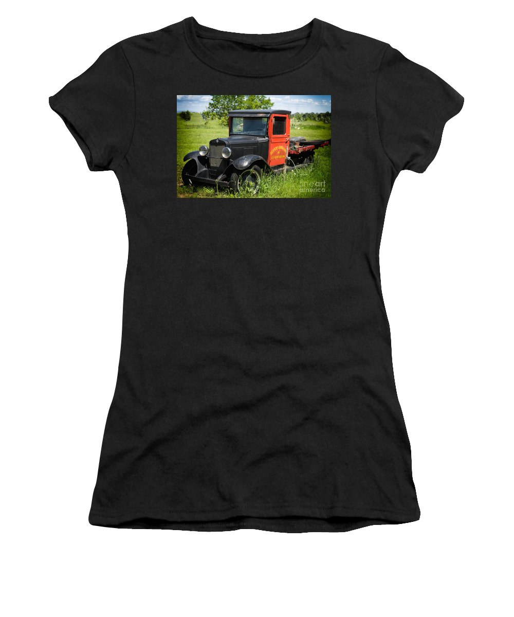 Old Women's T-Shirt featuring the photograph Old Chevrolet Truck by Les Palenik