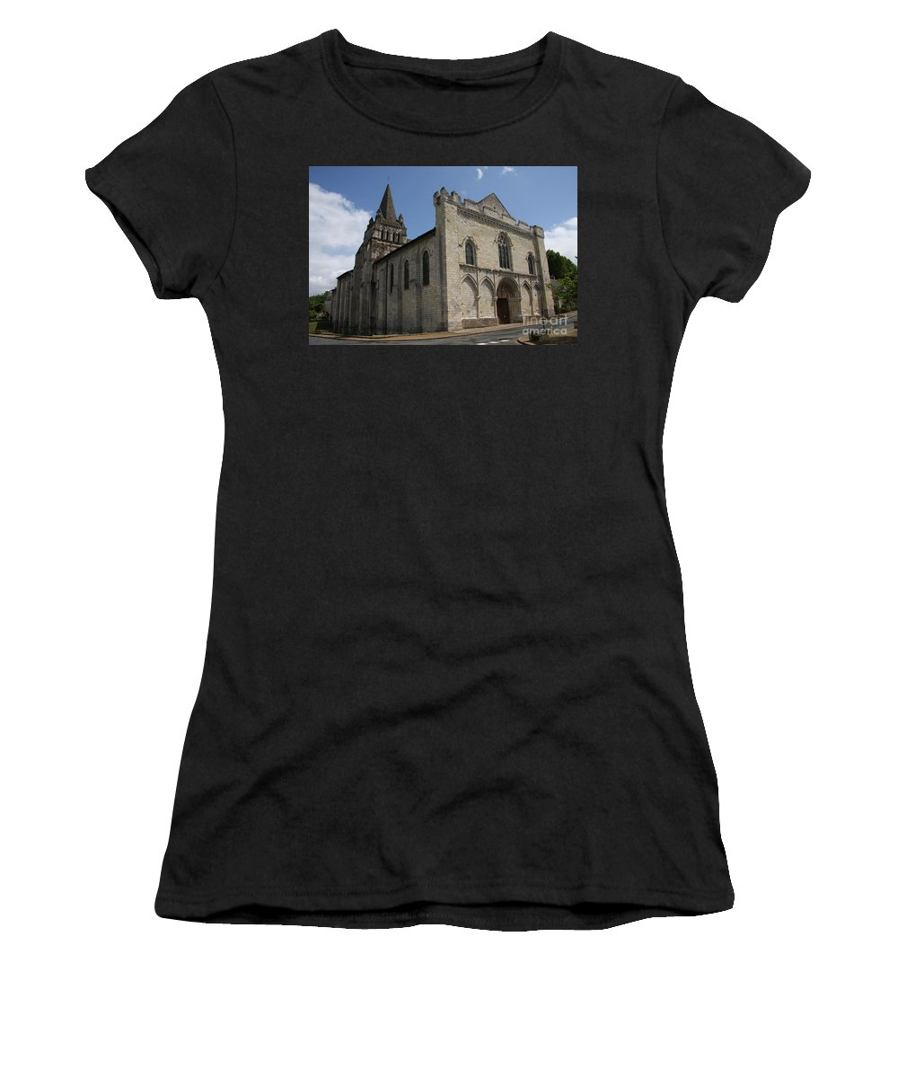 Church Women's T-Shirt (Athletic Fit) featuring the photograph Old Church - Loire - France by Christiane Schulze Art And Photography