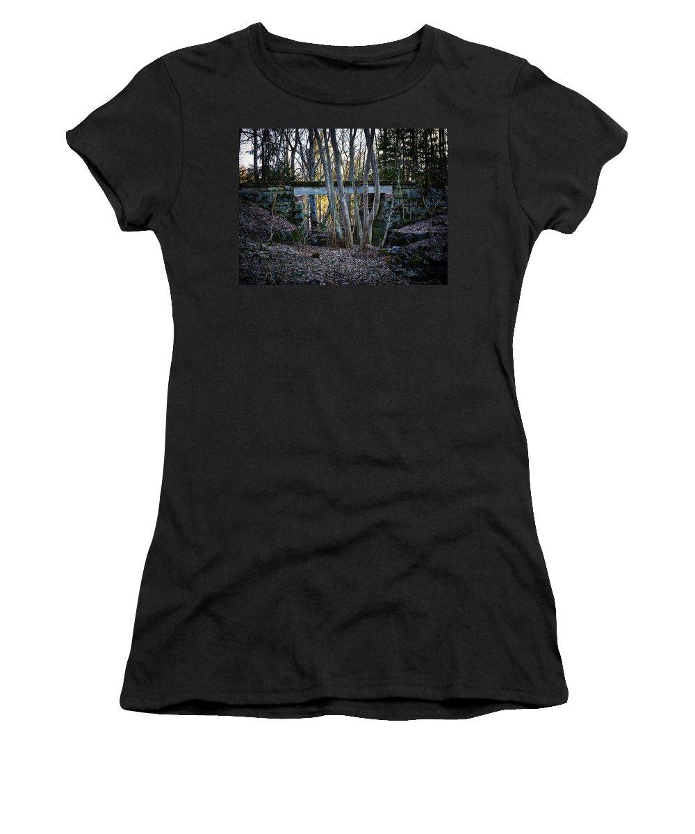 Lehto Women's T-Shirt featuring the photograph Old Railway Bridge by Jouko Lehto