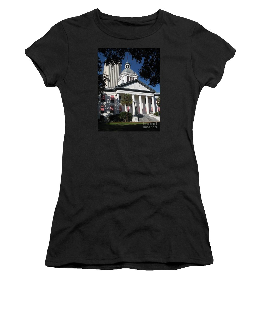 Tallahassee Women's T-Shirt (Athletic Fit) featuring the photograph Old State Capitol - Florida by Christiane Schulze Art And Photography