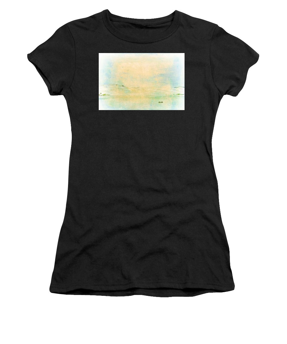Water Women's T-Shirt featuring the photograph On The Bay by Pamela Cooper