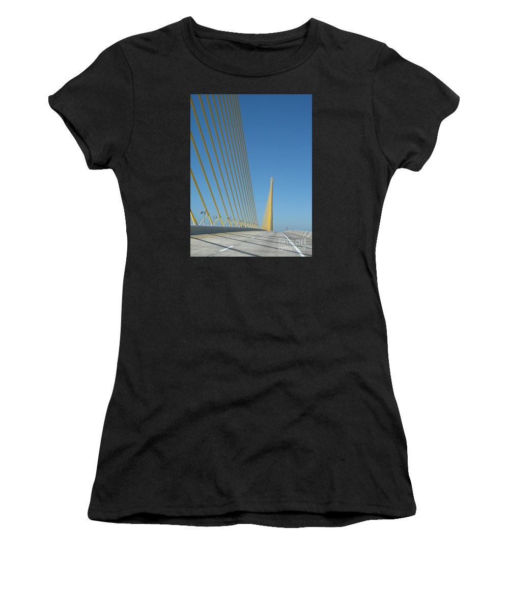 Bridge Women's T-Shirt featuring the photograph On The Sky Way Brigde by Christiane Schulze Art And Photography