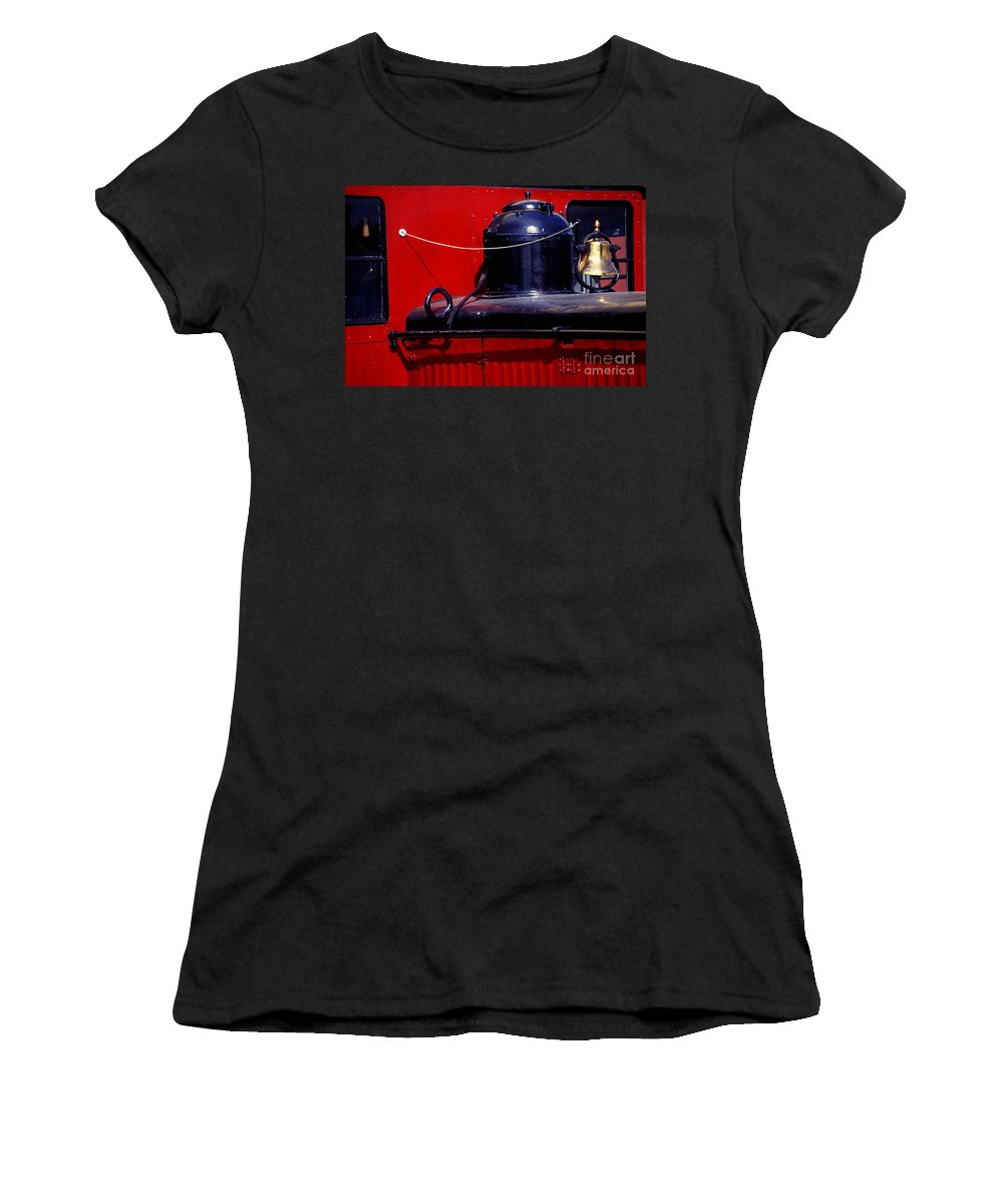 Railroad Women's T-Shirt (Athletic Fit) featuring the photograph One Brass Bell by Paul W Faust - Impressions of Light