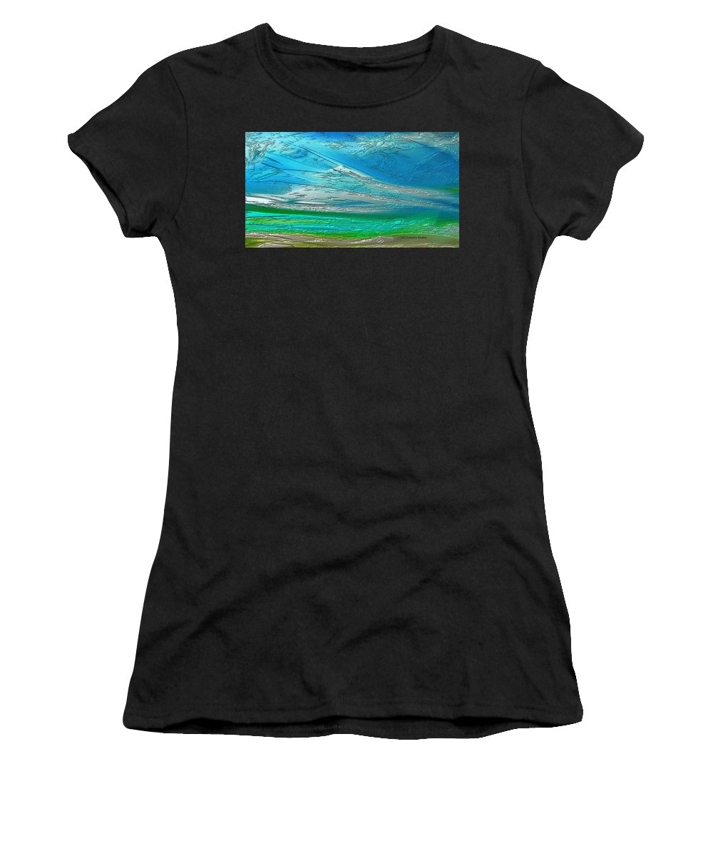 Expressive Women's T-Shirt (Athletic Fit) featuring the painting One Earth by Lenore Senior