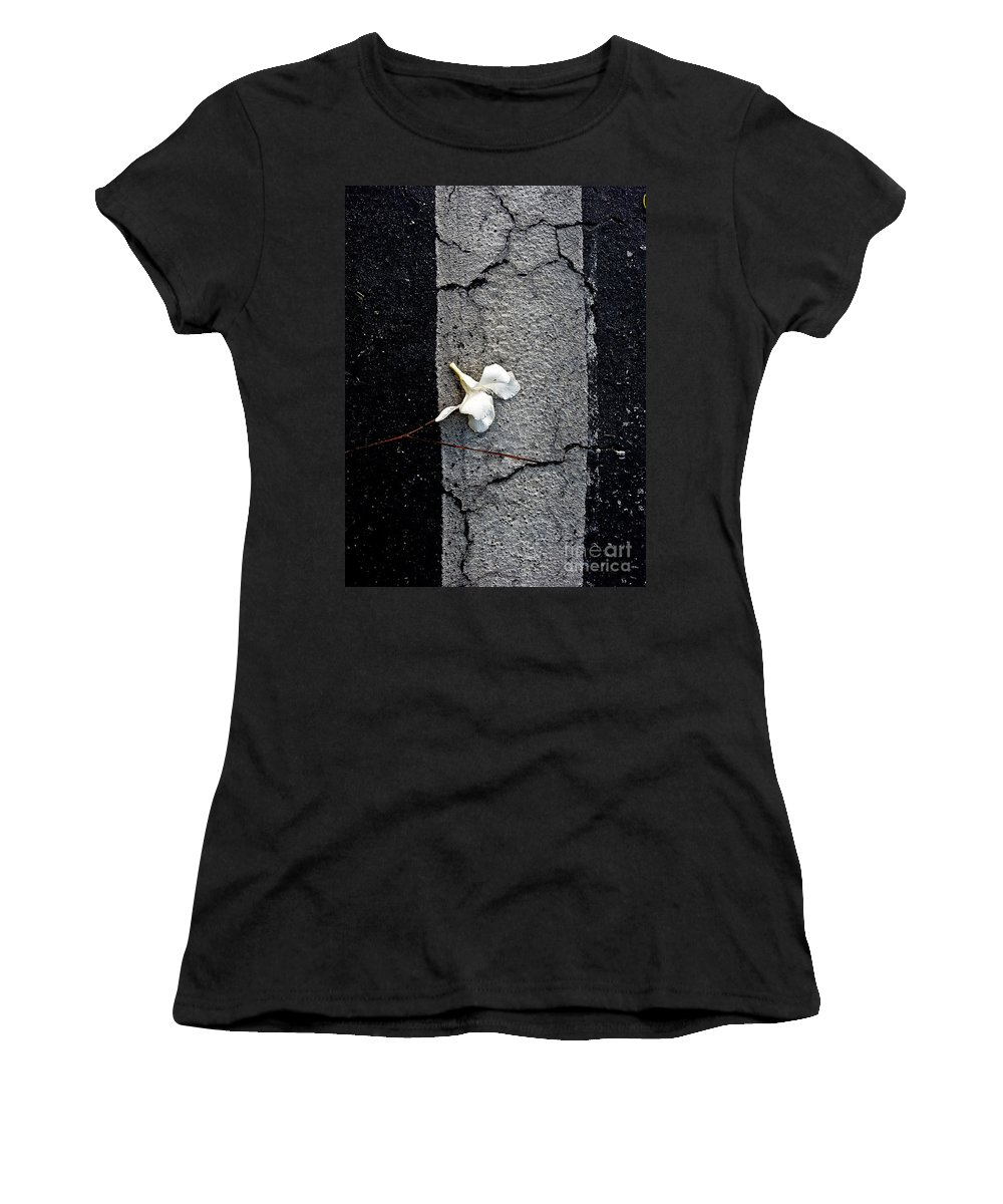 Abstract Women's T-Shirt featuring the photograph One by Fei A