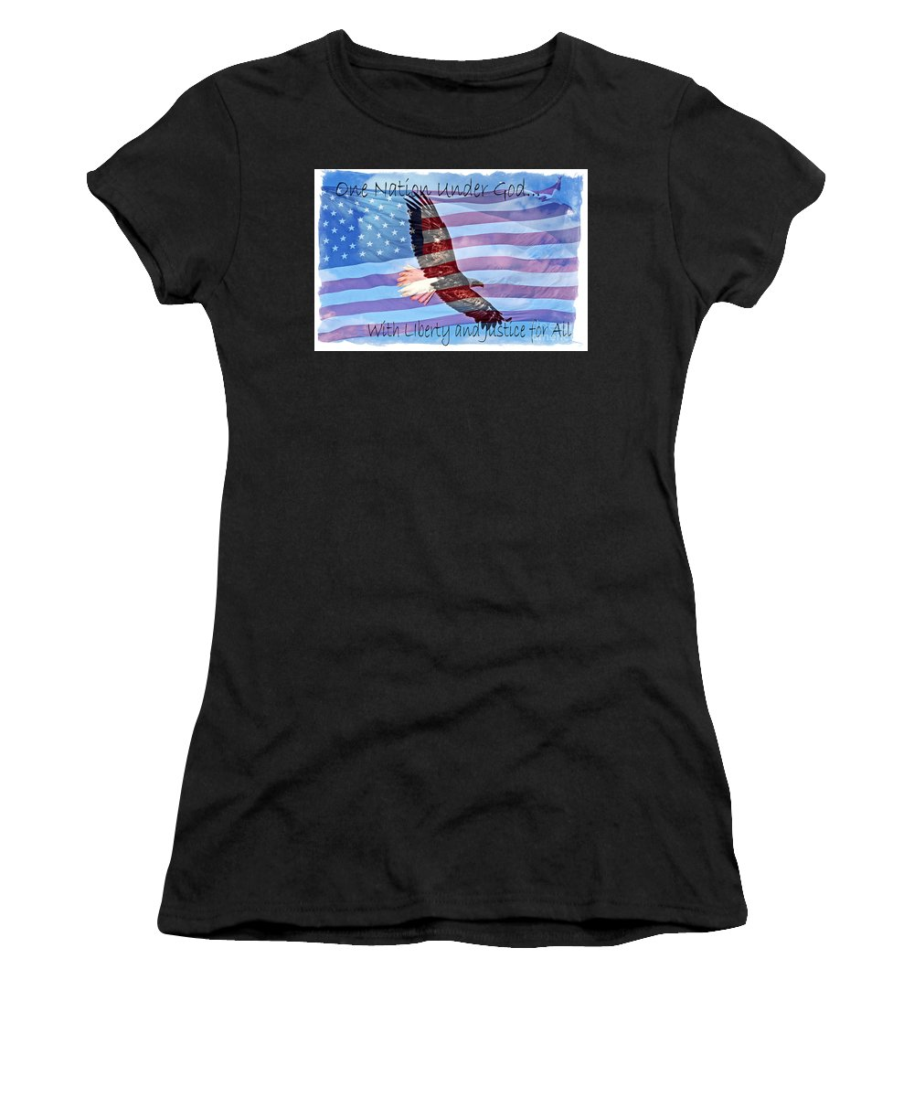 Colorado Women's T-Shirt (Athletic Fit) featuring the photograph One Nation... by Bob Hislop