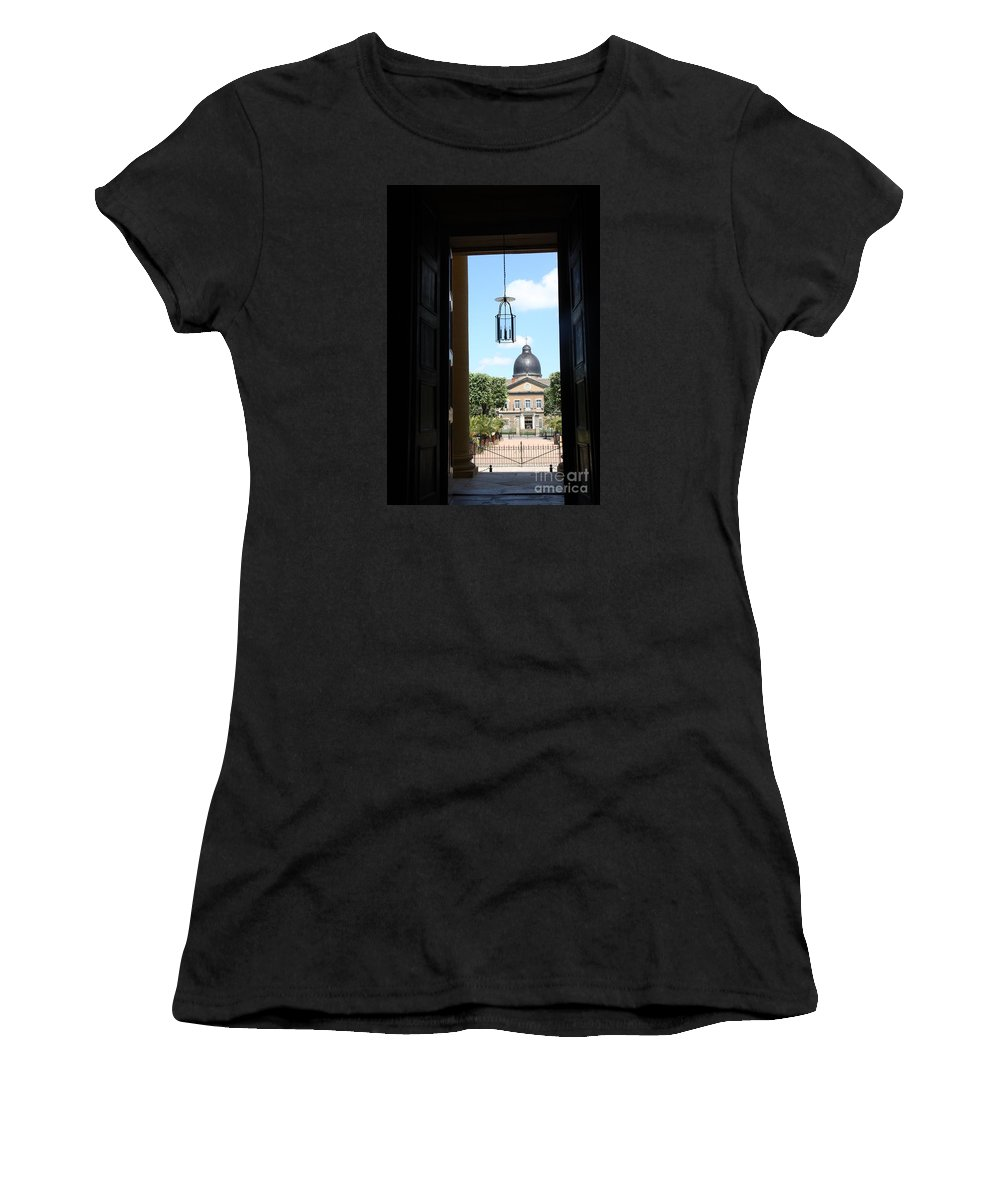 Hospital Women's T-Shirt (Athletic Fit) featuring the photograph Open Church Door - Macon by Christiane Schulze Art And Photography