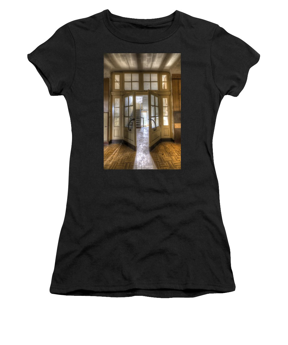 Abandoned Women's T-Shirt (Athletic Fit) featuring the digital art Open To The Light by Nathan Wright