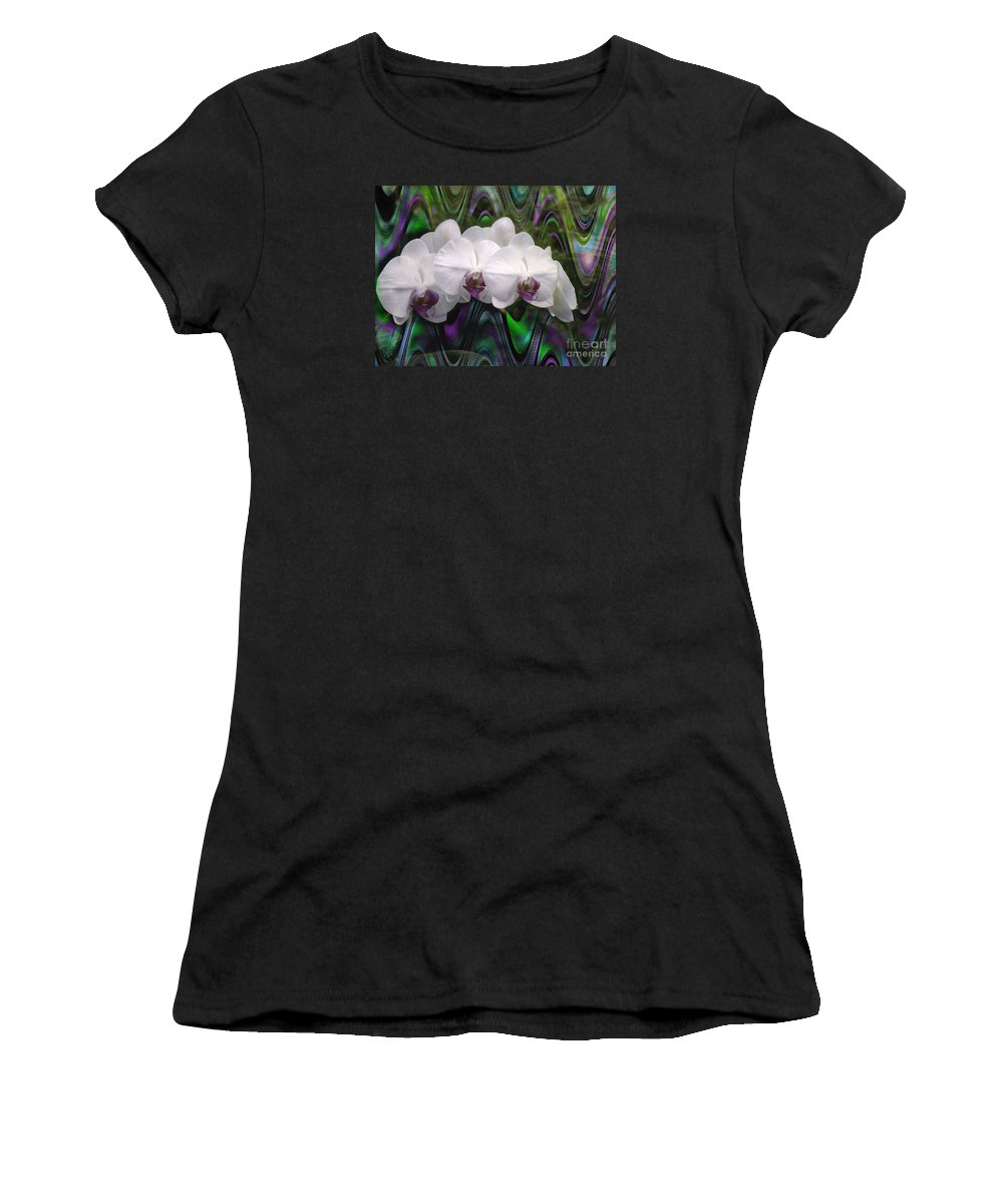 Orchid Women's T-Shirt (Athletic Fit) featuring the photograph Balanchine Ballet by The Art of Alice Terrill