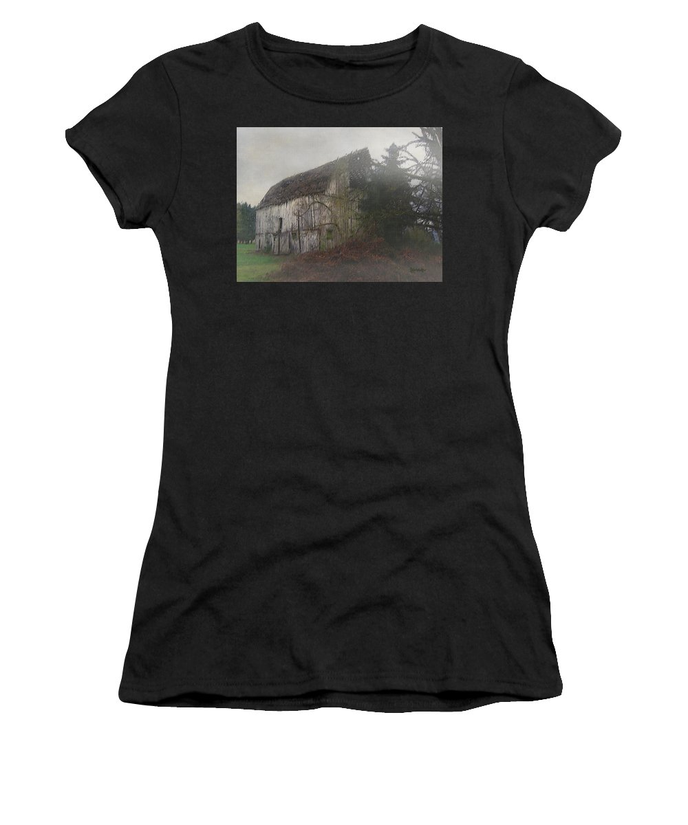 Barn Women's T-Shirt featuring the painting Oregon Relic by RC DeWinter
