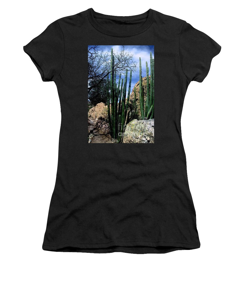 Cactus Women's T-Shirt (Athletic Fit) featuring the photograph Organ Pipe by Kathy McClure