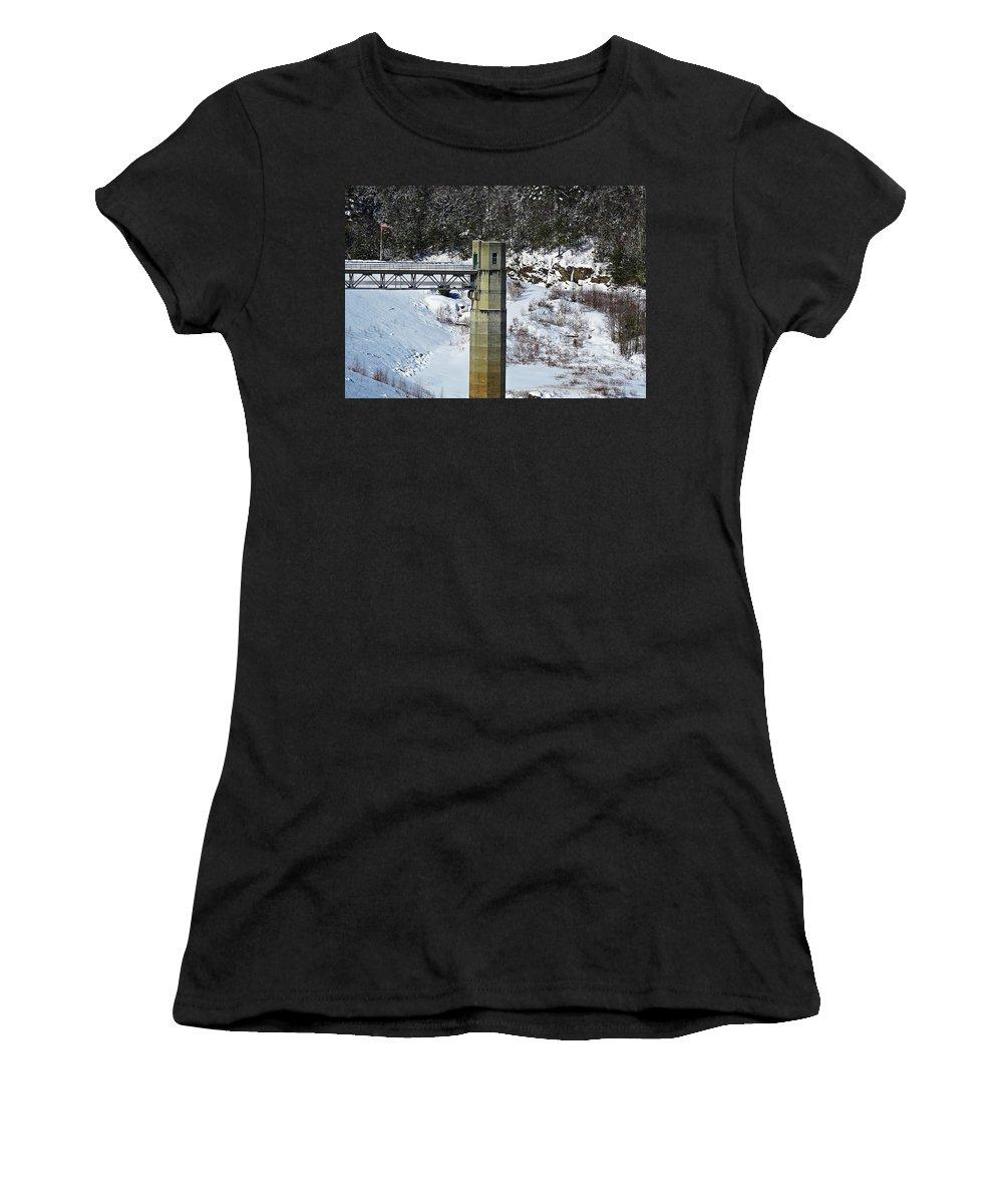 Otter Brook Dam Women's T-Shirt featuring the photograph Otter Brook Dam by MTBobbins Photography