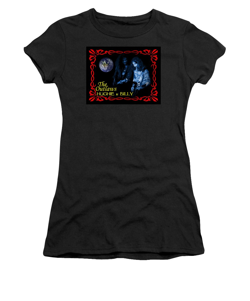 Hughie Thomasson Women's T-Shirt (Athletic Fit) featuring the photograph Out Of This World Music by Ben Upham