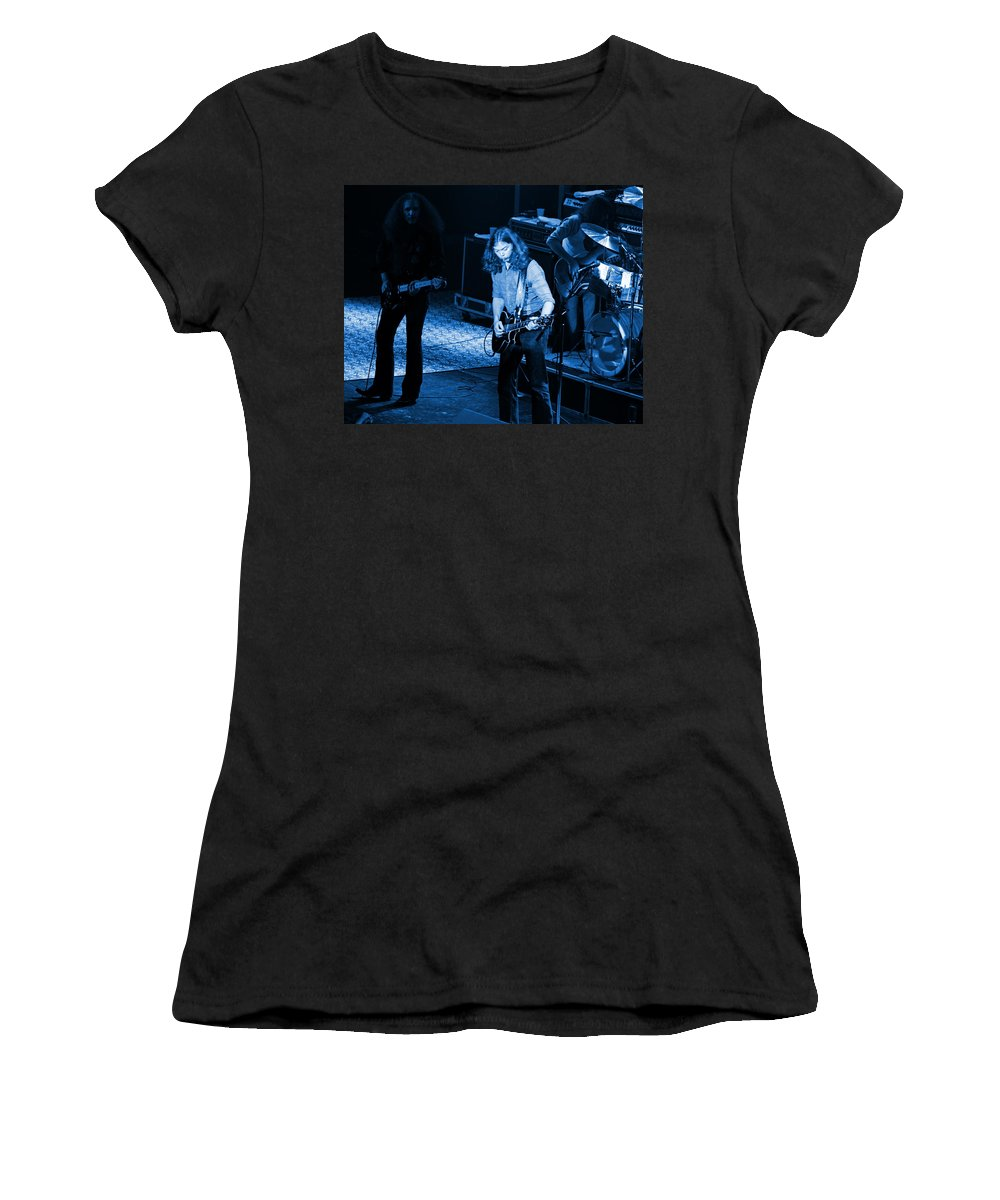 Outlaws Women's T-Shirt featuring the photograph Outlaws #21 Crop 2 Blue by Ben Upham