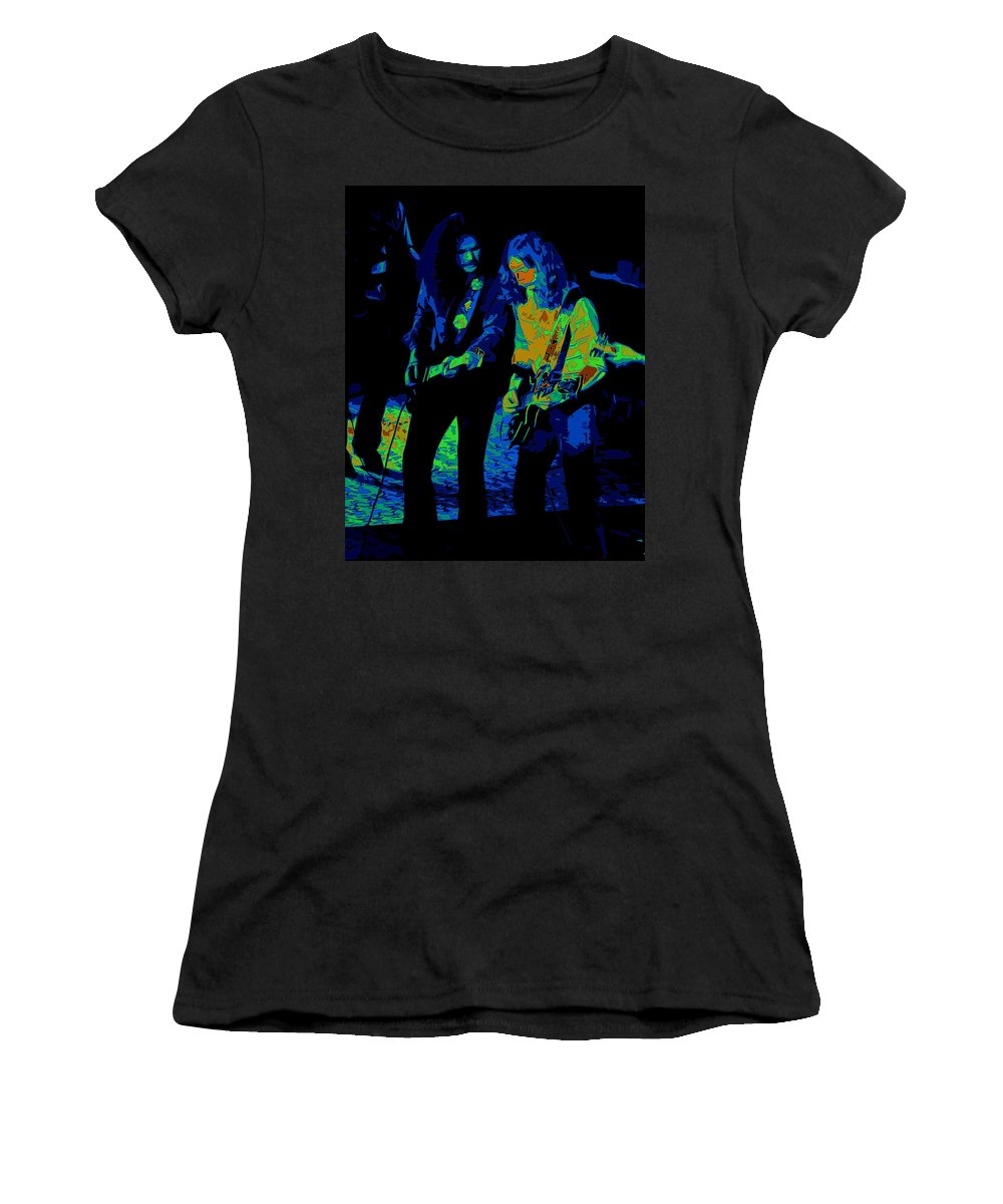 Outlaws Women's T-Shirt featuring the photograph Outlaws #25 Crop 2 Art Psychedelic by Ben Upham