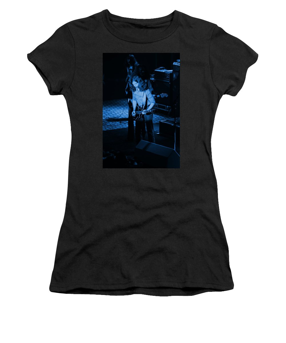 Outlaws Women's T-Shirt featuring the photograph Outlaws #27 Blue by Ben Upham