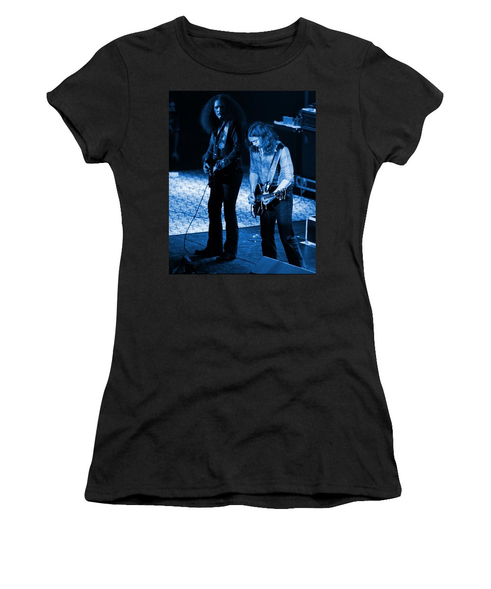 Outlaws Women's T-Shirt featuring the photograph Outlaws #31 Crop 2 Blue by Ben Upham