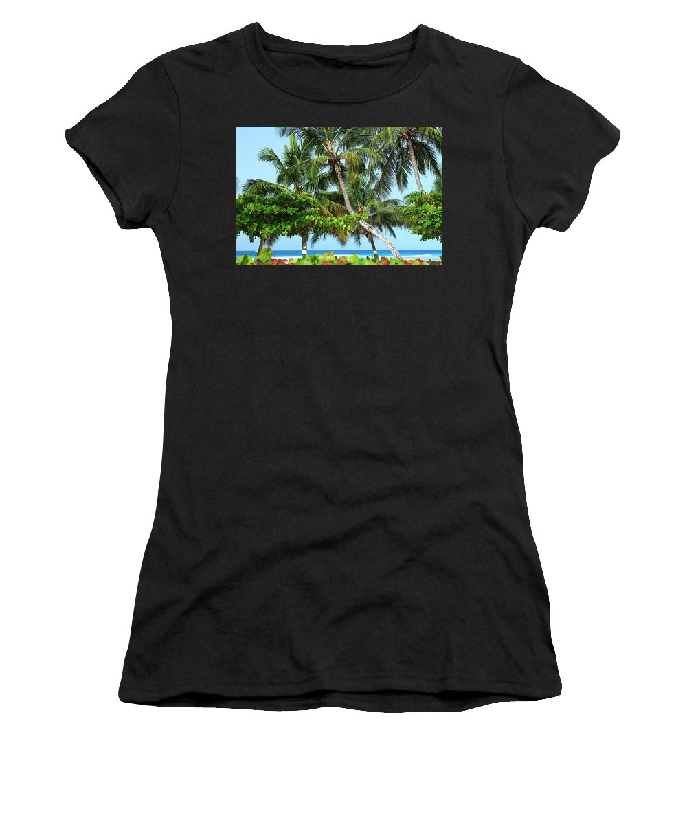 Barbados Women's T-Shirt featuring the photograph Over The Hedges by Catie Canetti