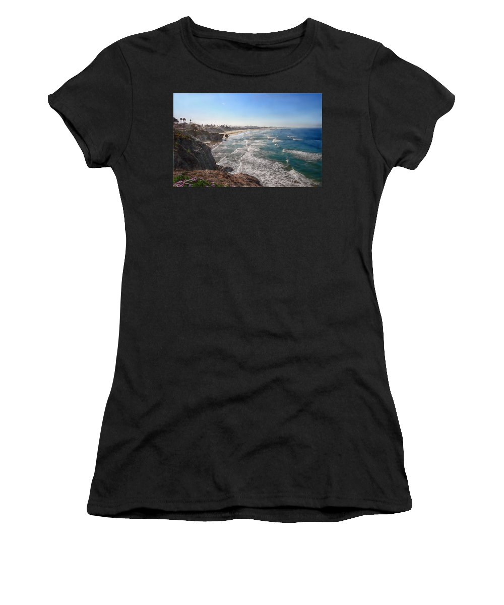 Ocean Women's T-Shirt (Athletic Fit) featuring the photograph Pacific Coast by Hanny Heim